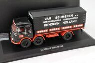 MERCEDES-BENZ LP333 Van Seumeren transport, dark blue/red