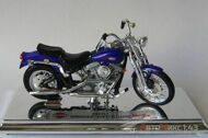 Мотоцикл Harley-Davidson FXSTS Springer Softail - 1999, фиолетовый (1:18)
